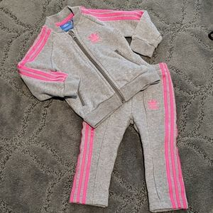 Adidas sweatshirt and sweatpants set